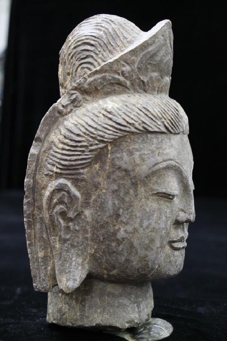 Stone Carved Buddha Head - 2