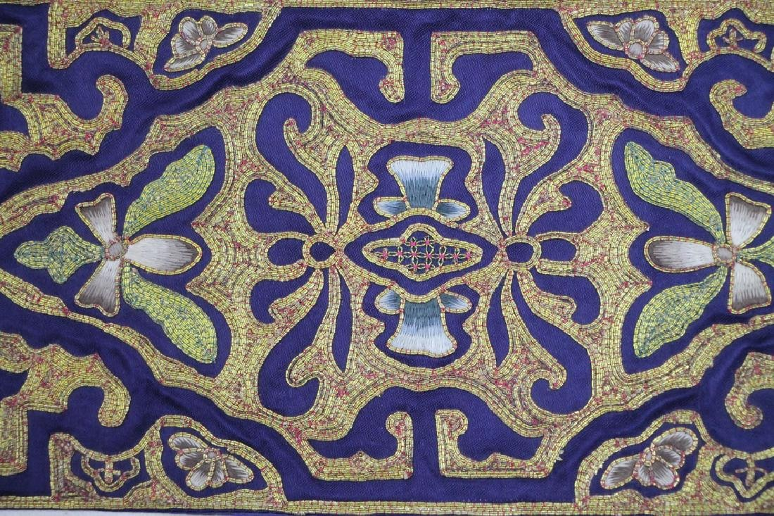 Two Pieces Blue and Gold Textiles - 3
