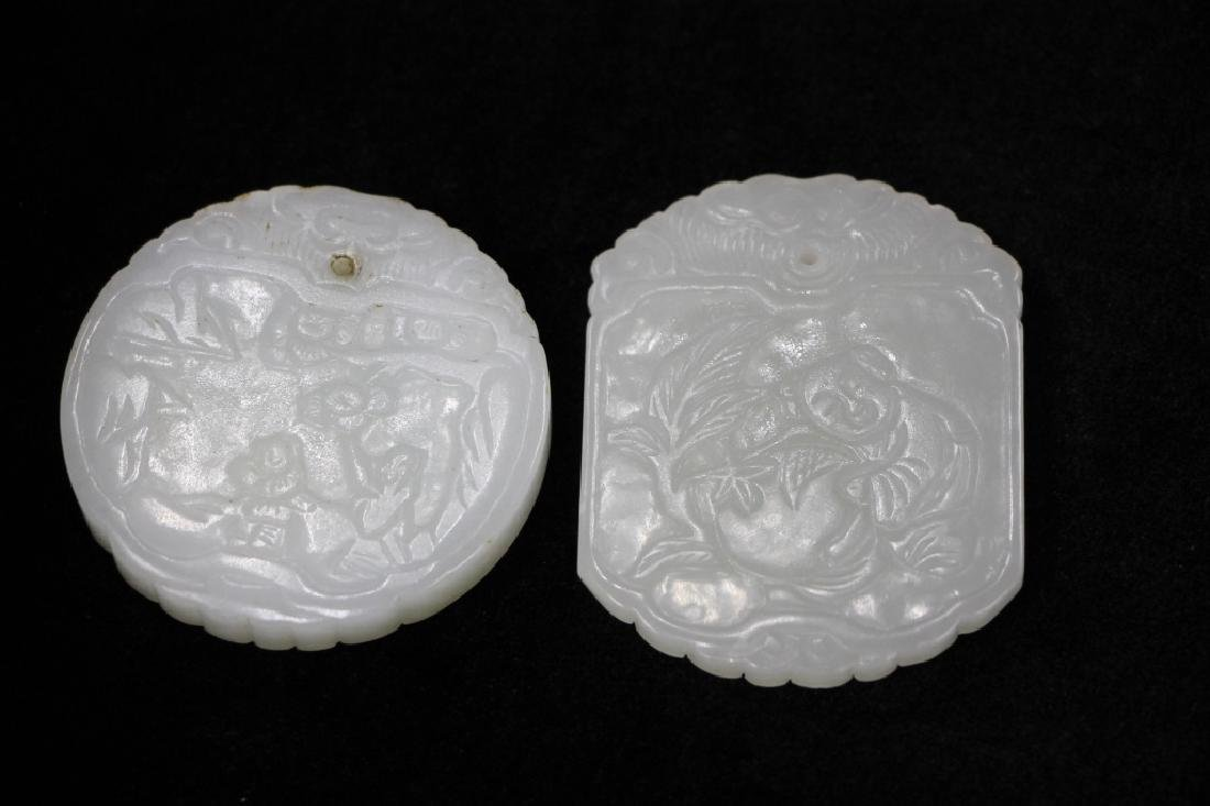 Lot of 2 White Jade Carvings