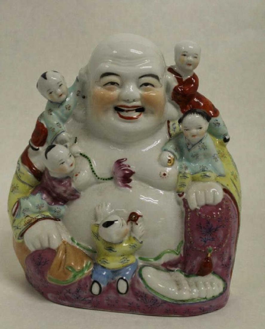 Chinese Famille Rose Buddha