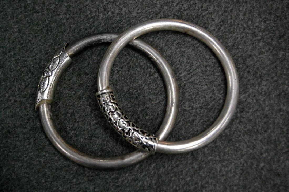 Pair of Silver Bangles