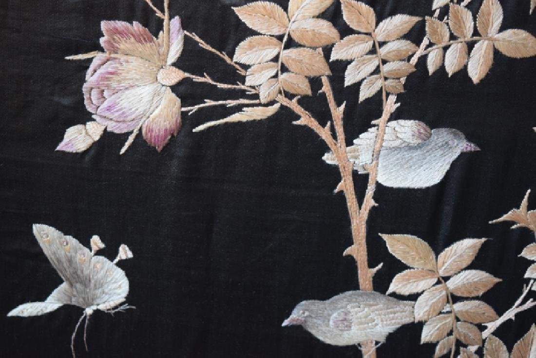Chinese Qing Embroidery Screens w/ Rose Wood Frame - 5