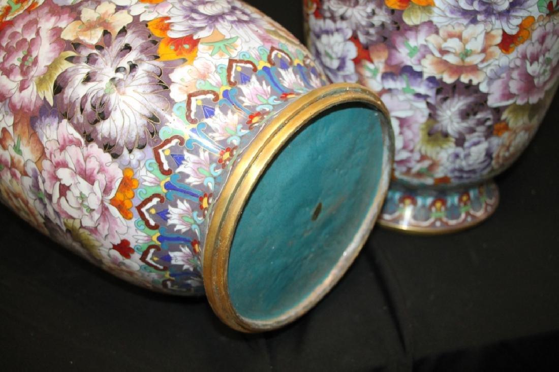 Pair of Cloisonne Vases - 3