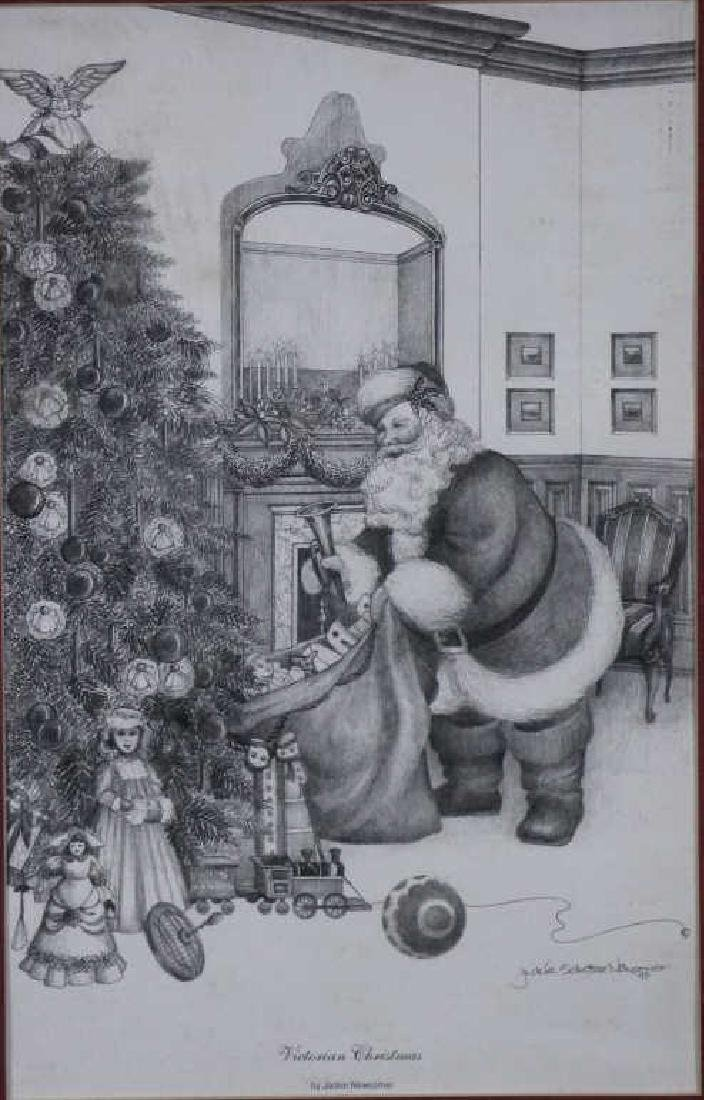 JACKIE NEWCOMER - Signed Print : Santa Claus - 2