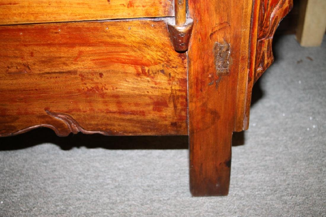 Two Doors Carved Wood Chest - 4