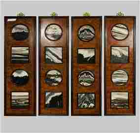 Set of Chinese Wall Panels w/ Marble