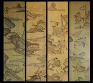 Qing Dynasty 4 Pieces of Kesi Hanging Screens