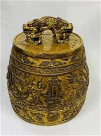 Qing Dynasty Glit Bronze Bell