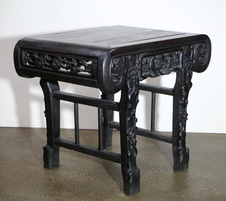 Qing Rosewood Carved Side Table
