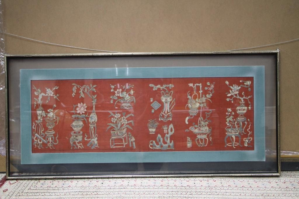 Qing Framed Chinese Embroidery