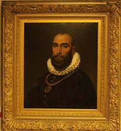 Portrait of Worthington Whittredge - Oil on Cardboard