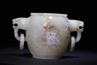 Hetian Jade Carved Bottle