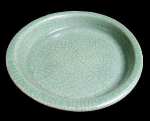 Ming Dynasty Chinese Celadon Porcelain Plate
