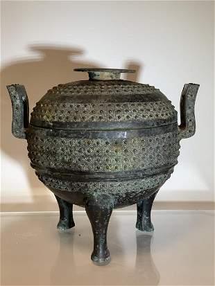 Bronze Incense Burner W/ Lid