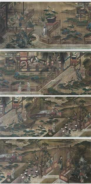 Early Qing Dynasty Landscape & Portrait Painting