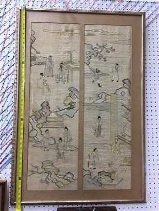 Chinese Kesi silk panel