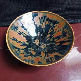 Song Dynasty Porcelain Iron-splashed Tea Bowl