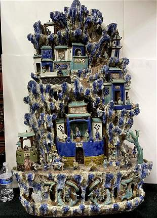 Monumental Qing Dynasty Shiwan Pottery Village