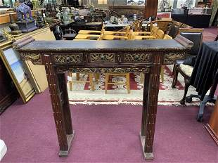 Antique Chinese Carved Rosewood Altar Table
