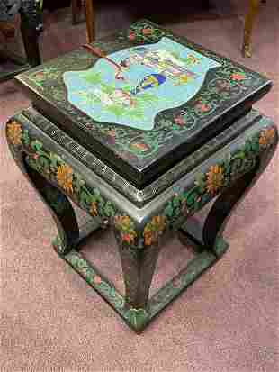 Mid-Century Chinese Low Table W/ Cloisonne Top