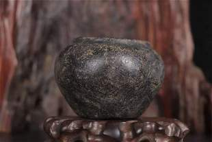 A Meteorite Stone Carved Jar