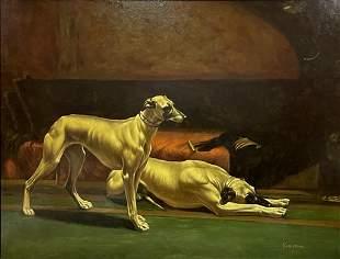 Valentino, 20th C. Italian Oil on Canvas