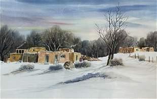Maomi Slater, 20th C, Watercolor on W/C Board