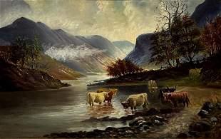 19th C. Scottish School, Oil on Canvas