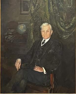 Large Oil on Canvas Portrait of J. Morton Howell