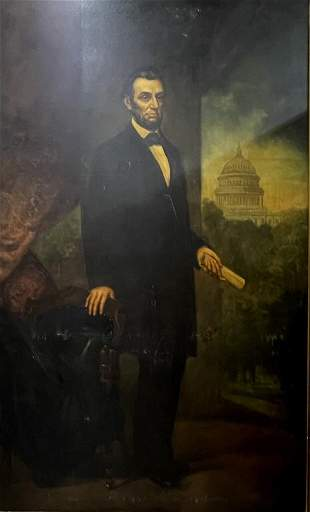 Rare and fine Oil painting of Abraham Lincoln, c
