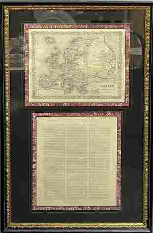 Topographical Colored Map & Supporting J.H Colton