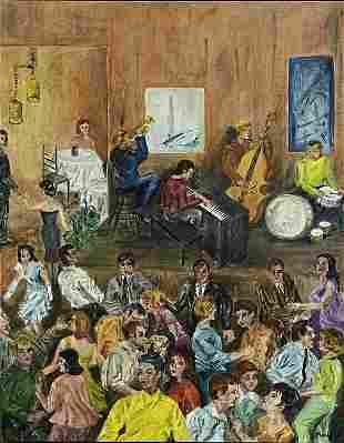 "Oil on Canvas, Marlene, ""Jazz Dance Party"",1961"