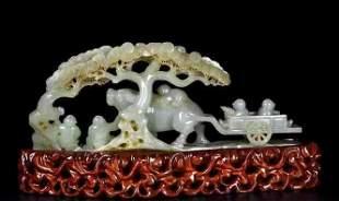 A Hetian Jade Fine Carving