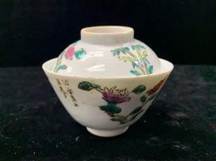 Old Fencai Porcelain Tea Bowl W/ Lid