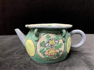 Old Fencai Porcelain Tea Pot