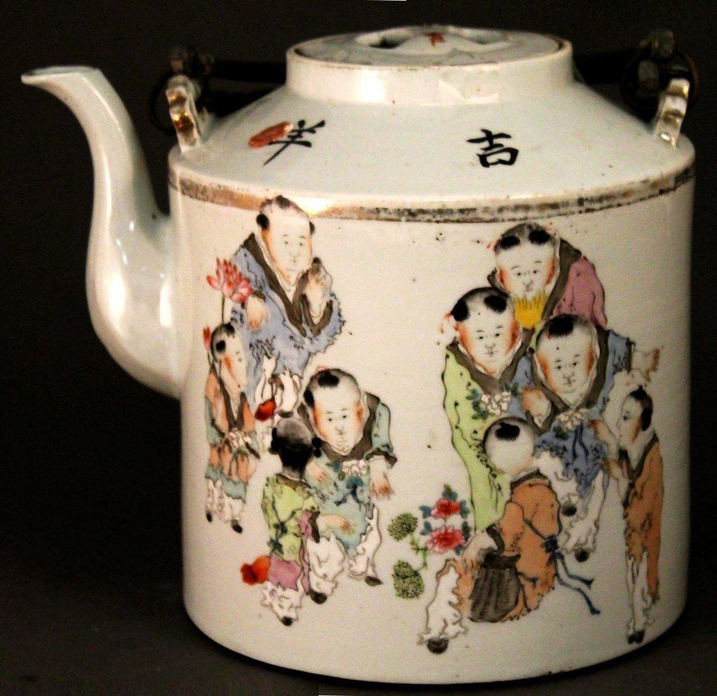 9: Famille Rose Teapot