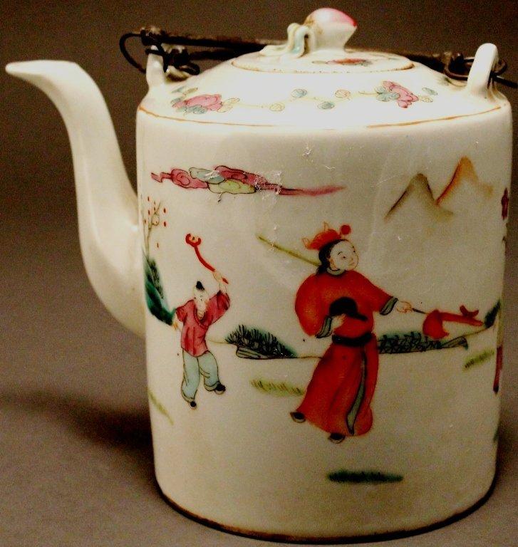 12: Large Famille Rose Teapot