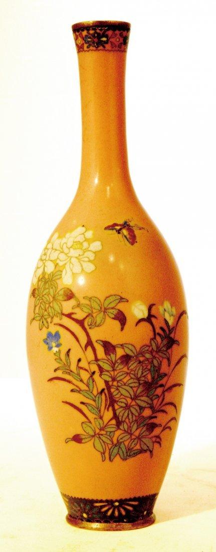 19: Japanese Cloisonne Enameled Vase