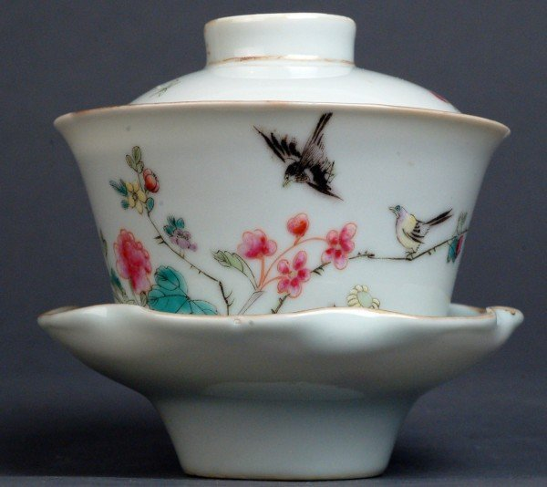 2: Chinese Qing Porcelain Tea Cup Set