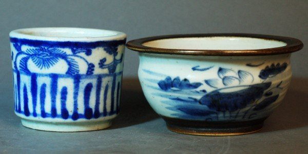 6: Two Blue and White Incense Burners