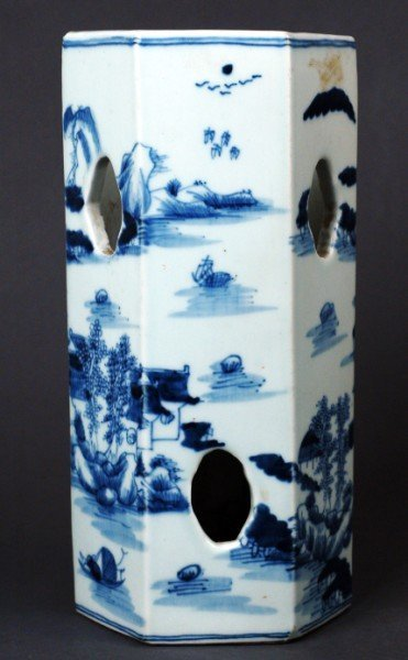 8: Chinese Qing Porcelain  Hat Holder