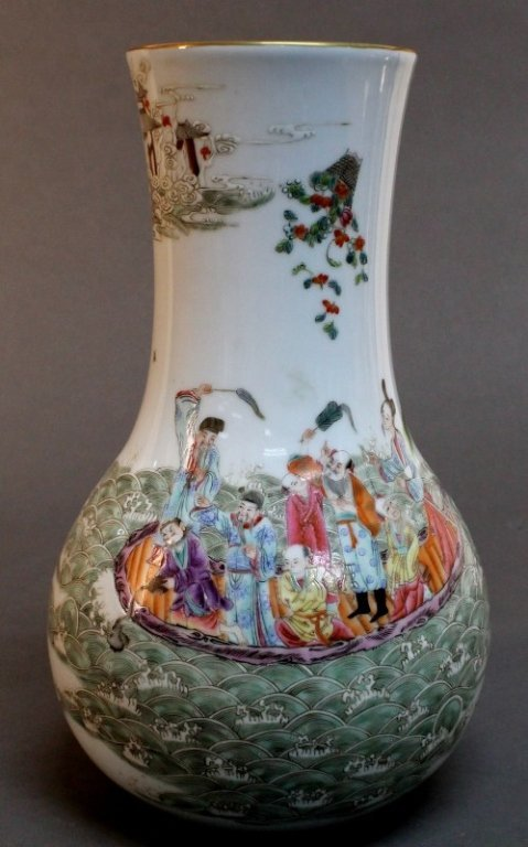 24: Chinese Porcelain  Vase- Eight Immortals