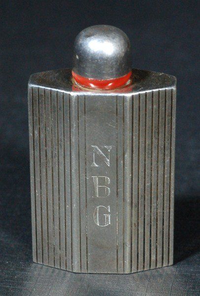 24: Silver Perfume Bottle- Early 19th