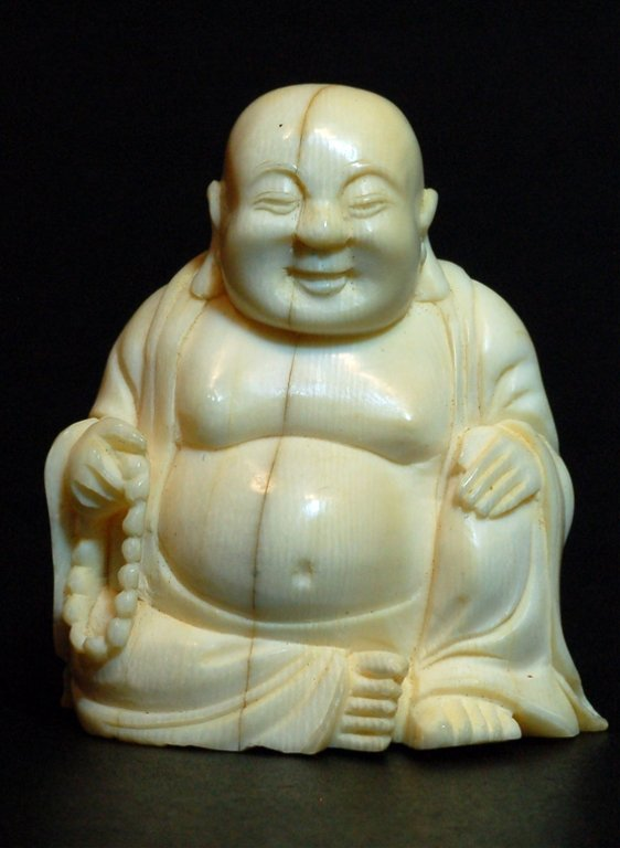 95: Japanese Carved Ivory Buddha