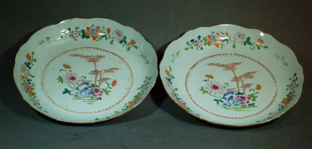 1: Chinese Qing Famille Rose Plates