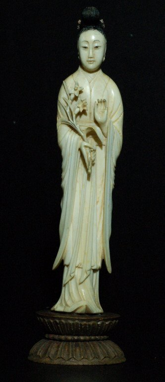 102: Finely Carved Ivory Figure - Woman