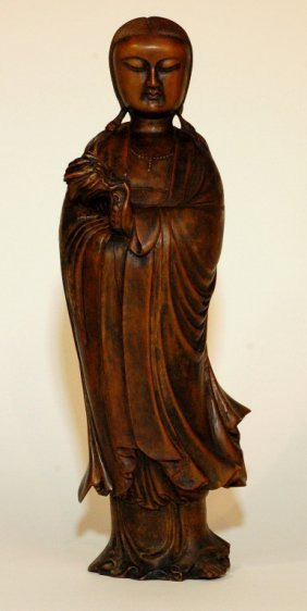Chinese Ming Style Wood Guanyin Statue