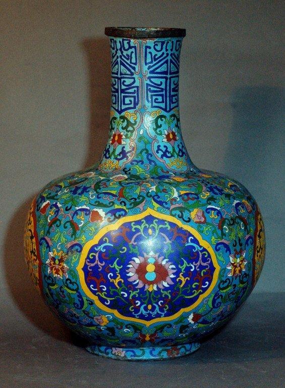 4: Large Chinese Cloisonne Vase