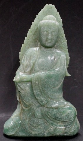 Carved Jade Statue Of Guanyin