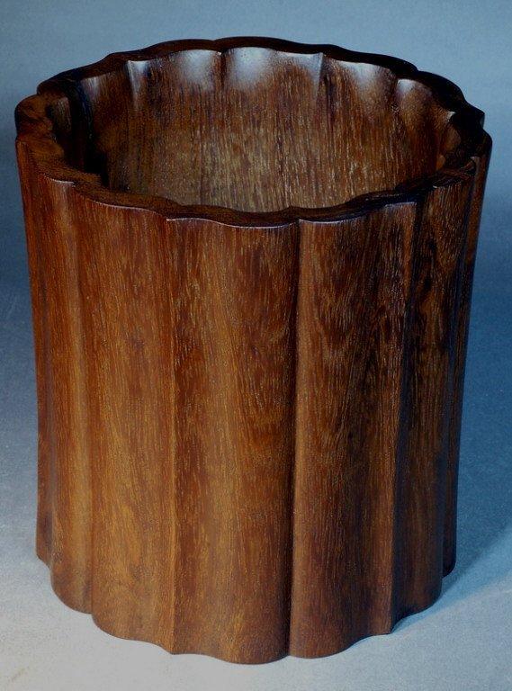 7: Large Huanghuali Brush Pot